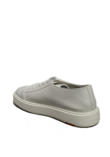Sneaker low top pelle bianco SANTONI | Sneakers | 21430PELLE-148