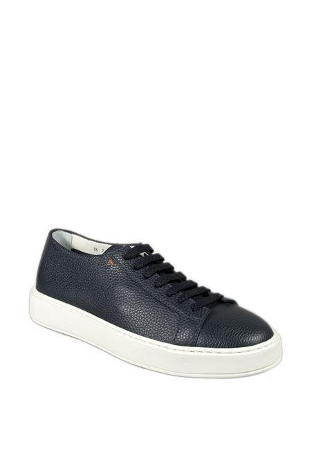 Sneaker low top pelle blu SANTONI | Sneakers | 21430PELLE-U55