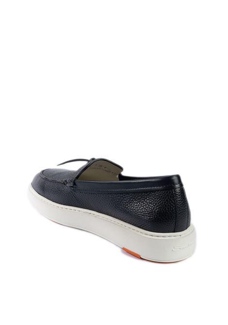 Sneaker slipon blu SANTONI | Sneakers | 21439PELLE-U55