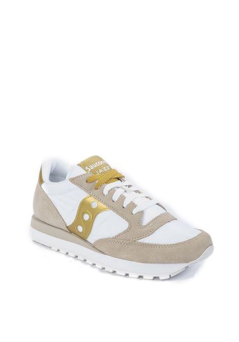 Sneaker jazz bianco/oro SAUCONY | Sneakers | 1044JAZZ-611