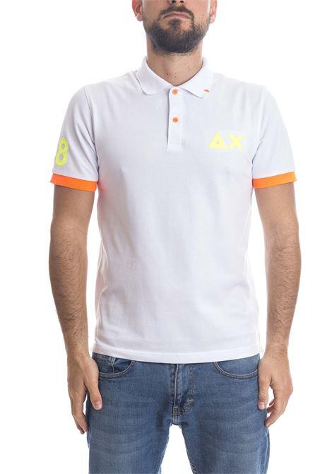 Polo logo fluo bianco SUN 68 | Polo | A31120LOGO FLUO-BIANCO