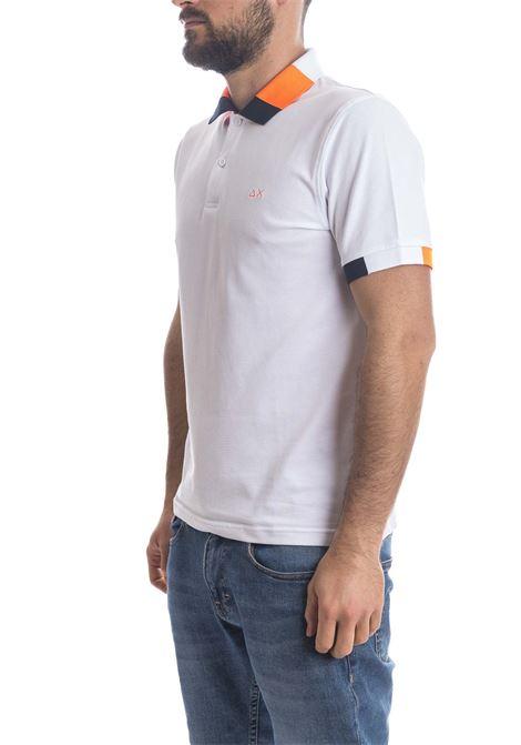 Polo fluo multi bianco SUN 68 | Polo | A31121FLUO MULTI-BIANCO