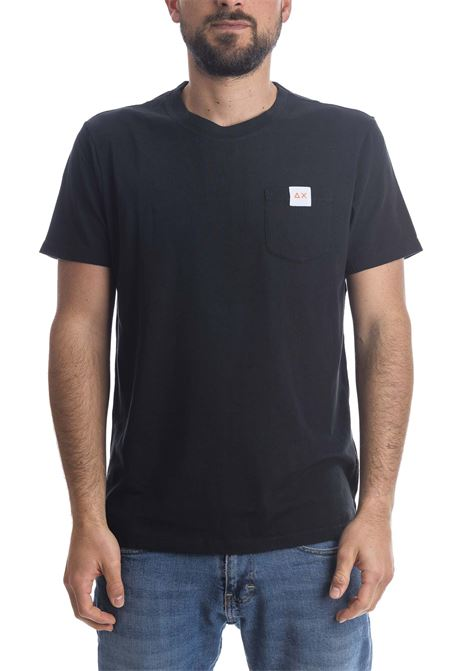 T-shirt pocket logo nero SUN 68 | T-shirt | T31106POCKET LOGO-NERO