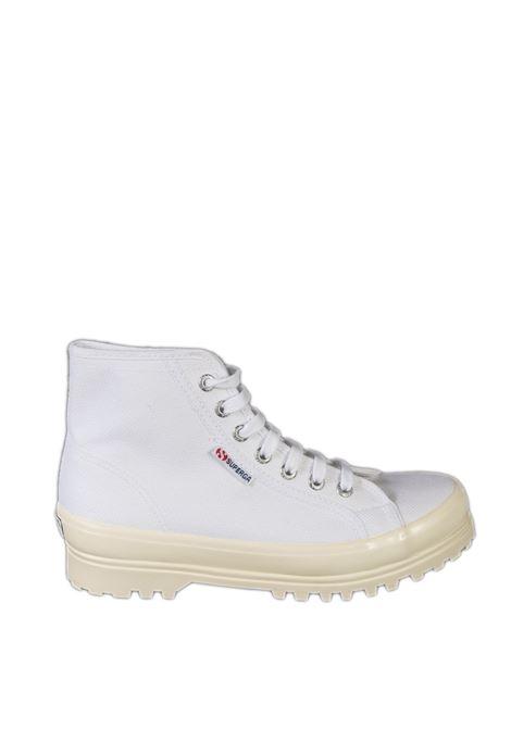 Sneaker alpina shiny bianco SUPERGA | Sneakers | 2341ALPINA SHINY-A8I