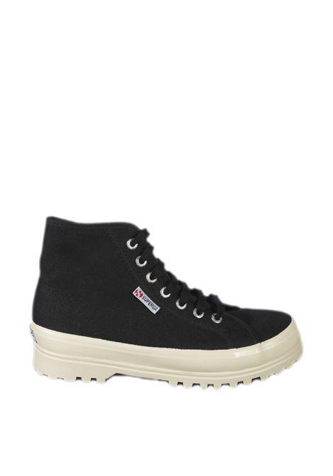 Sneaker alpina shiny nero SUPERGA | Sneakers | 2341ALPINA SHINY-A8J
