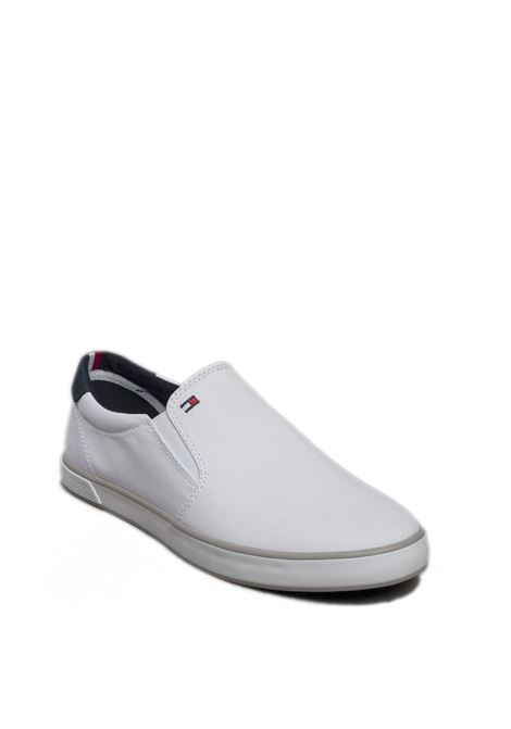 Sneaker iconic slipon bianco TOMMY HILFIGER | Sneakers | 0597ICONIC SLIPON-100