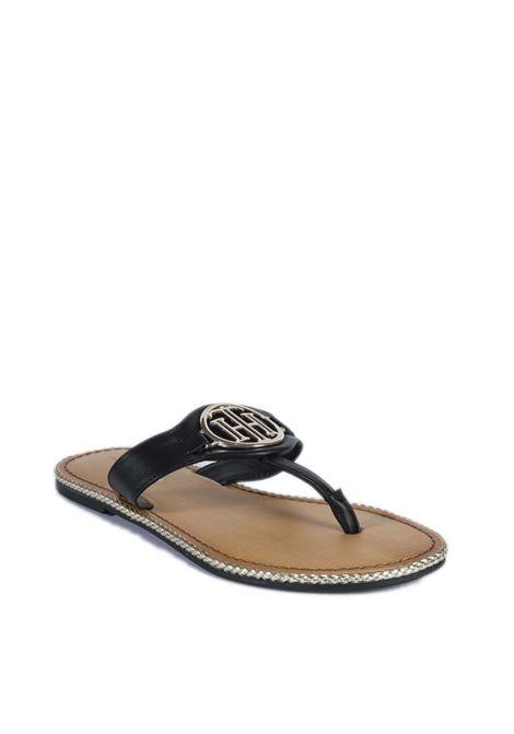 Sandalo flat essential nero TOMMY HILFIGER | Sandali flats | 5620ESSENTIAL-BDS