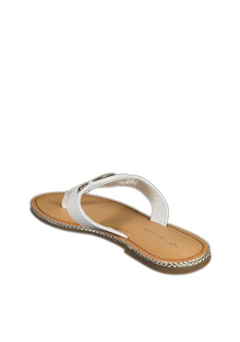 Sandalo flat essential bianco TOMMY HILFIGER | Sandali flats | 5620ESSENTIAL-YBL