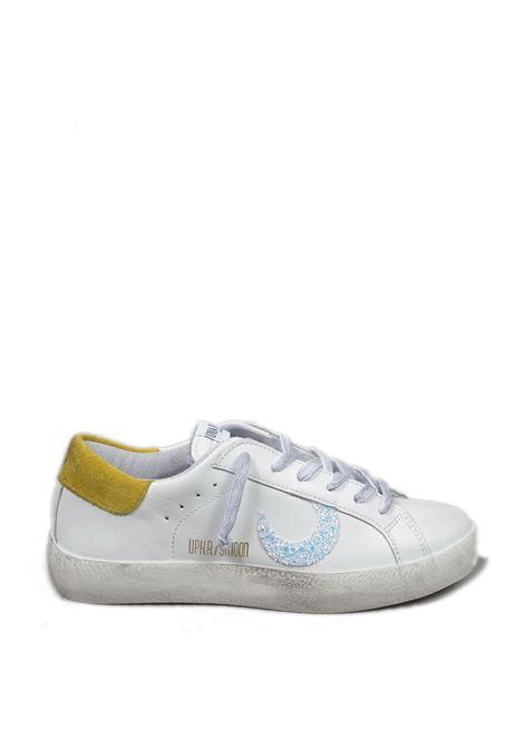 Sneaker super moon bianco/giallo UMA PARKER NEW YORK | Sneakers | SUPER MOONPELLE-BIANCO/GIALLO