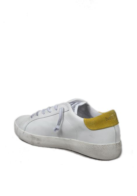Sneaker super moon bianco/giallo UMA PARKER NEW YORK   Sneakers   SUPER MOONPELLE-BIANCO/GIALLO