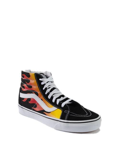 Sneaker sk8 hi flame black VANS | Sneakers | VN0A2XSBPHN1SK8-HI FLAME-BLACK-WHITE