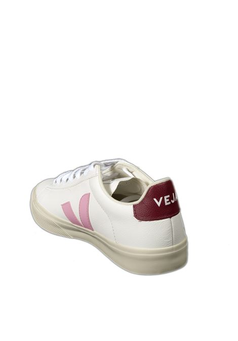 Sneaker campo chromefree bianco/bordeaux VEJA | Sneakers | CAMPO-DCHROMEFREE-051812