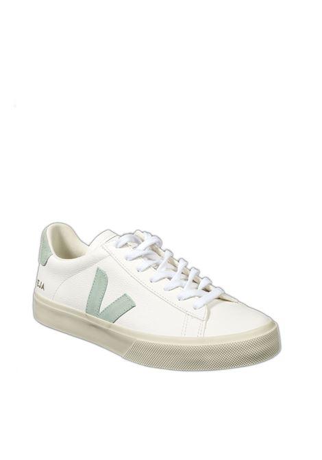 Sneaker campo chromefree bianco/verde VEJA | Sneakers | CAMPO-DCHROMEFREE-052485
