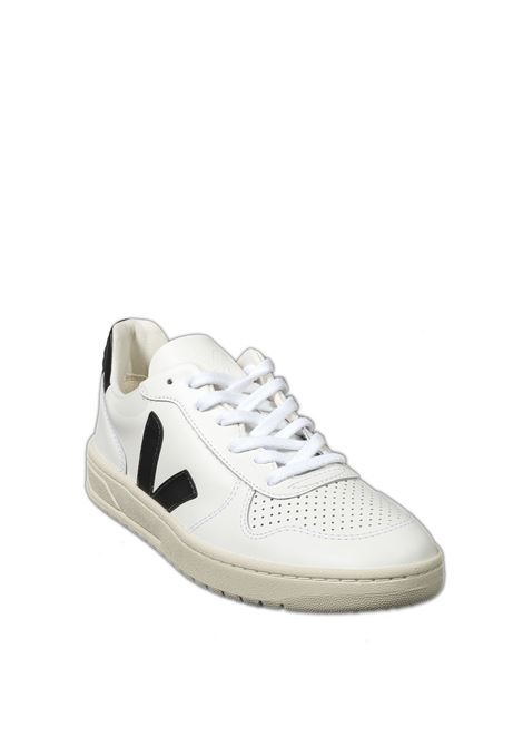Sneaker v10 pelle bianco/nero VEJA | Sneakers | V-10LEATHER-020005