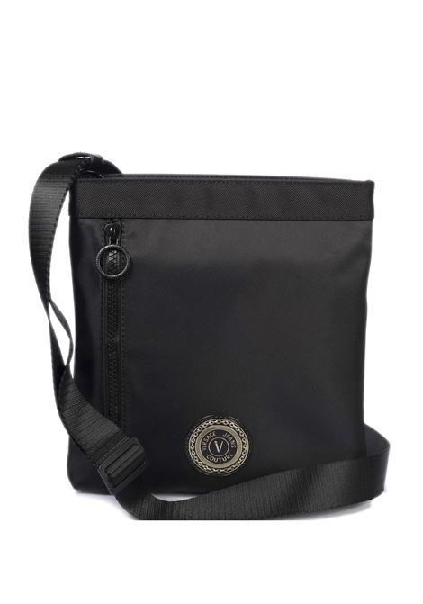 Tracolla logo nero/bianco VERSACE JEANS COUTURE | Borse a spalla | B8671889