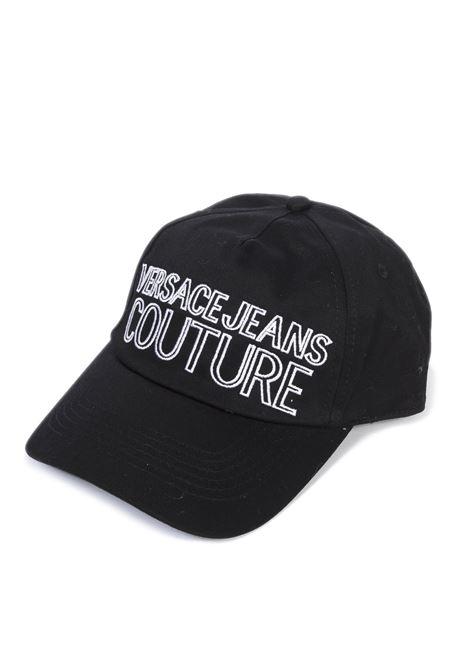 Cappello logo nero/bianco VERSACE JEANS COUTURE | Cappelli | K1185075-MI9