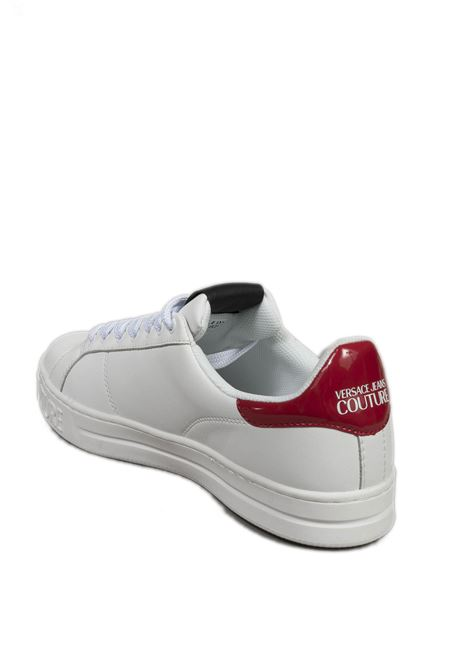 Sneaker logo patent bianco VERSACE JEANS COUTURE | Sneakers | SK871952-003