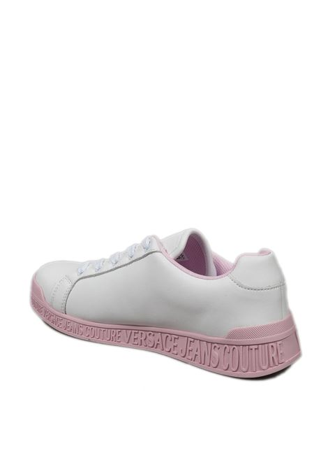 Sneaker logo bianco/rosa VERSACE JEANS COUTURE | Sneakers | SP871957-003