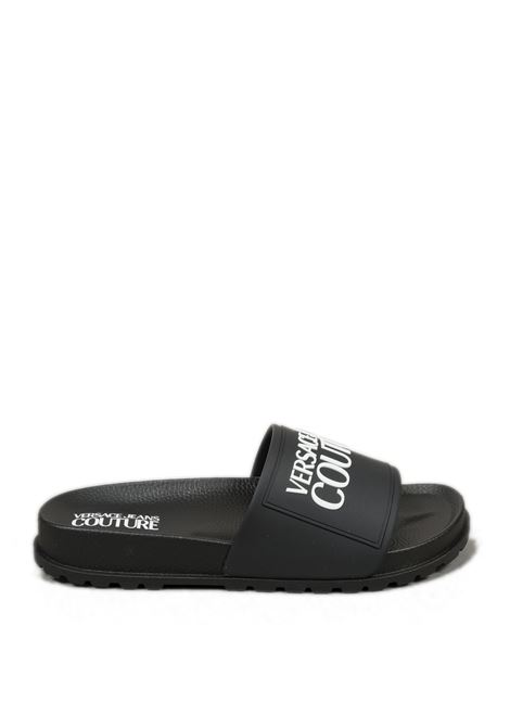 Sandalo gum logo nero VERSACE JEANS COUTURE | Sandali flats | SQ271353-899