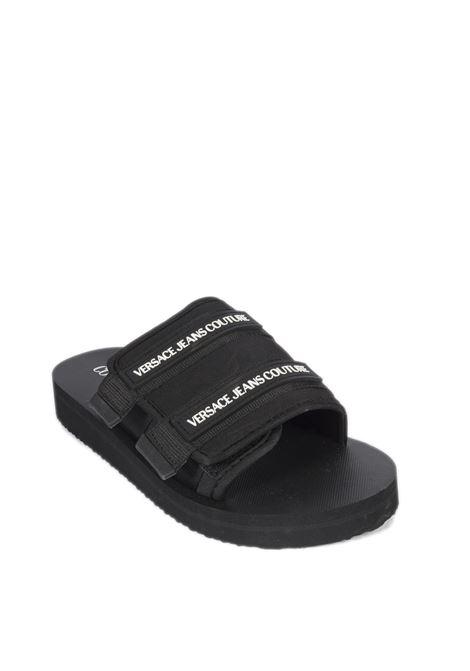 Sandalo fascia nero VERSACE JEANS COUTURE | Sandali flats | SY271937-899