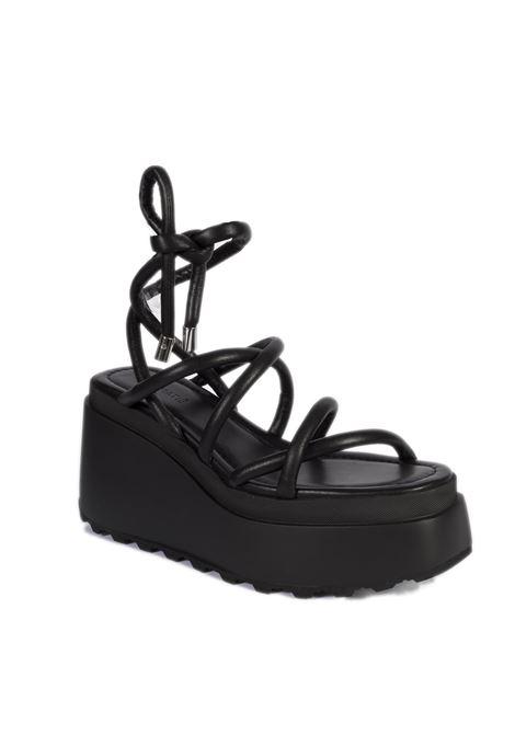Sandalo betty zeppa nero VIC MATIÈ | Sandali | 5704BETTY-101