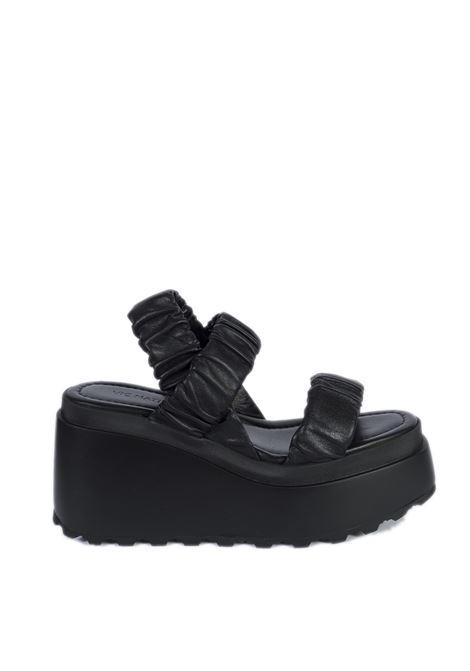 Sandalo velvet nero VIC MATIÈ | Sandali | 5706VELVET-101