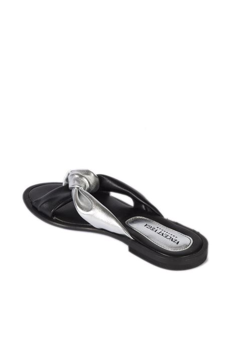 Sandalo nodo nero/argento VINCENT VEGA | Sandali flats | AG04LAM-ARGENTO