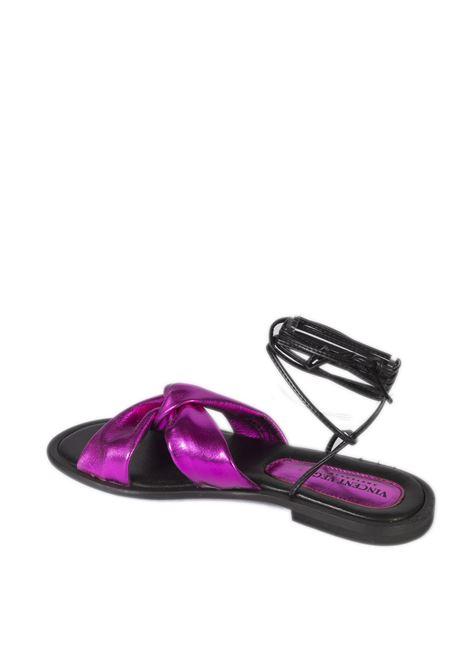 Sandalo schiava fuxia VINCENT VEGA   Sandali flats   AG06LAM-FUCSIA