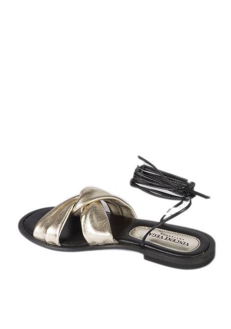 Sandalo schiava platino VINCENT VEGA | Sandali flats | AG06LAM-PLATINO