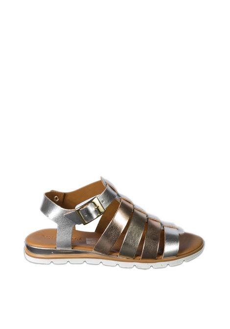 Sandalo fasce metal multicolor VINCENT VEGA | Sandali flats | FZ199LAM-ARGENTO