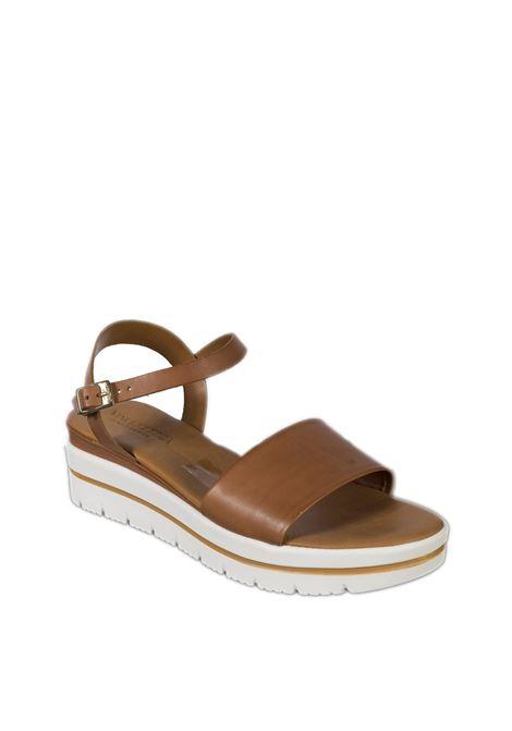 Sandalo zeppa fascia cuoio VINCENT VEGA | Sandali | FZ702XLVIT-CUOIO