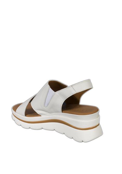 Sandalo zeppa incrocio bianco VINCENT VEGA | Sandali | FZ886NAPPA-BIANCO