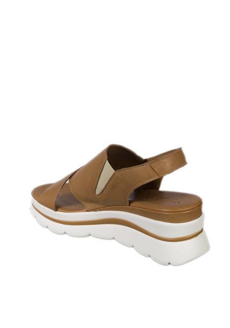 Sandalo zeppa incrocio cuoio VINCENT VEGA | Sandali | FZ886NAPPA-CUOIO