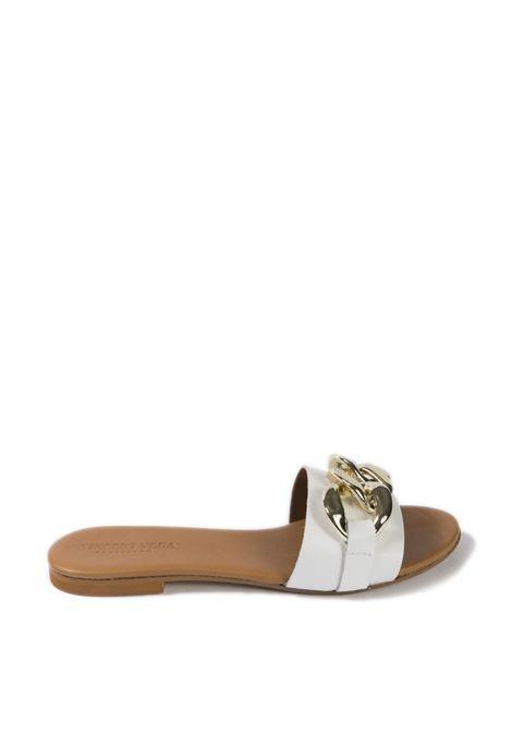 Sandalo flat catena bianco VINCENT VEGA | Sandali flats | P100CTVIT-BIANCO