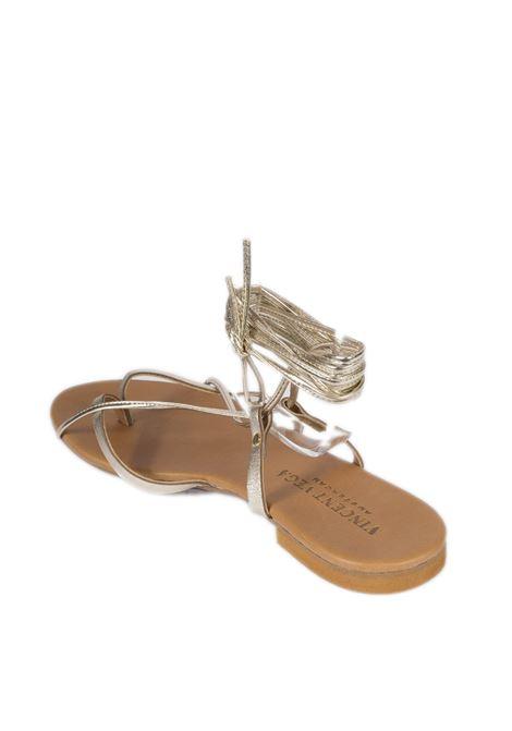 Sandalo flat schiava platino VINCENT VEGA | Sandali flats | P120SKLAM-PLATINO