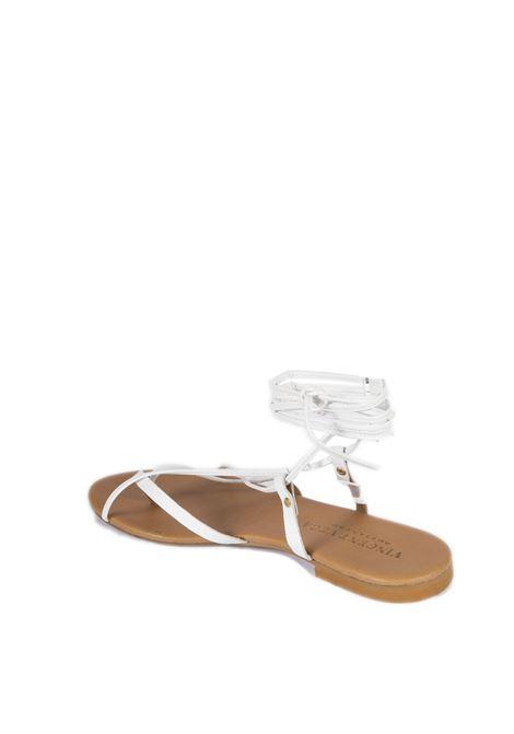 Sandalo flat schiava bianco VINCENT VEGA | Sandali flats | P120SKVIT-BIANCO