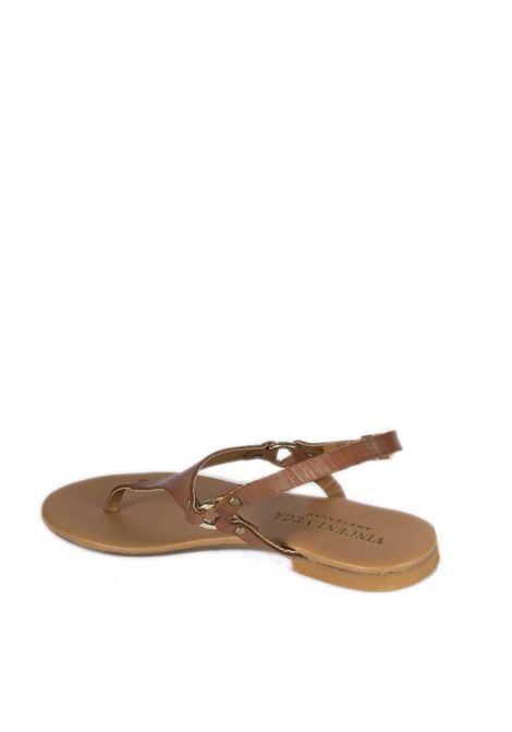 Sandalo triangolo cuoio VINCENT VEGA | Sandali flats | P128VIT-CUOIO