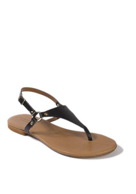 Sandalo triangolo nero VINCENT VEGA | Sandali flats | P128VIT-NERO