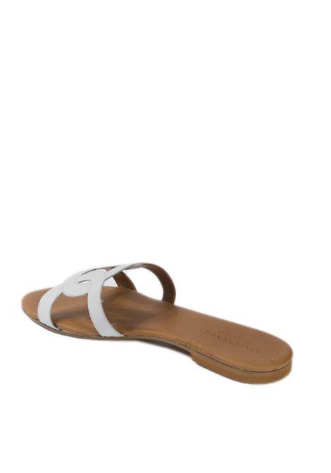 Sandalo cerchi laser bianco VINCENT VEGA | Sandali flats | P140HDVIT-BIANCO