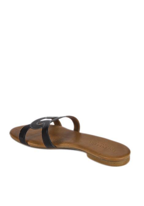 Sandalo flat laser nero VINCENT VEGA | Sandali flats | P140HDVIT-NERO
