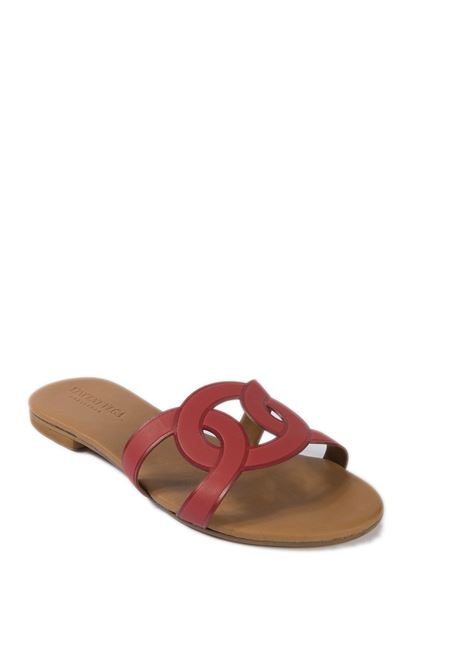 Sandalo cerchi laser rosso VINCENT VEGA | Sandali flats | P140HDVIT-ROSSO