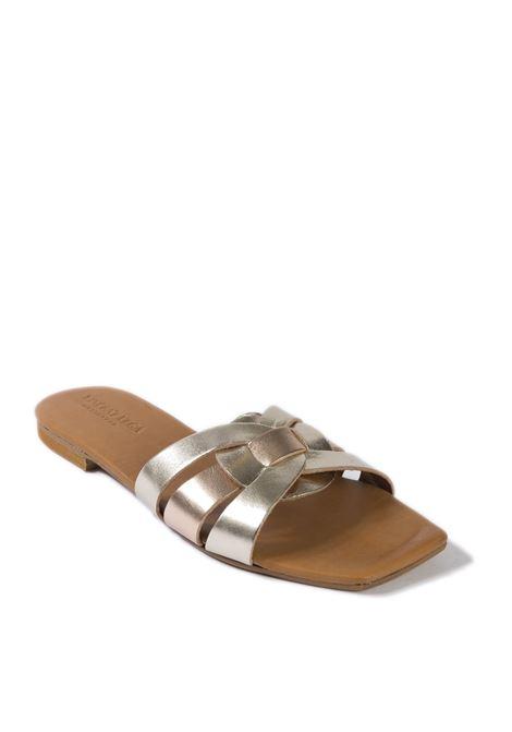 Sandalo quadra platino VINCENT VEGA | Sandali flats | PQ111LAM-PLATINO