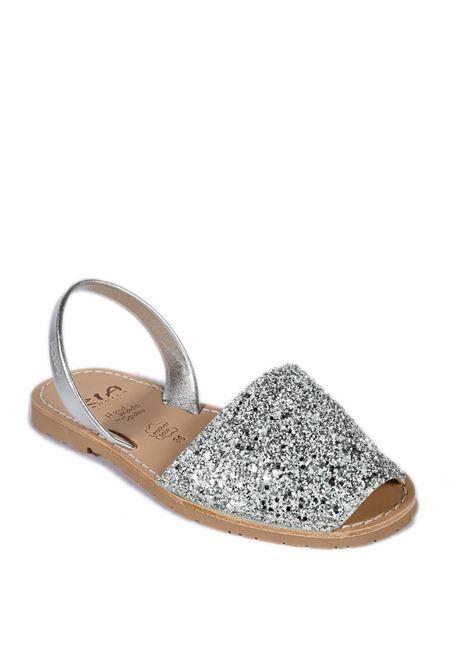 Sandalo flat glitter silver RIA MENORCA | Sandali flats | 21224GLITTER-C/19