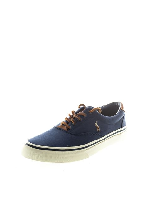 POLO RALPH LAUREN SNEAKER CANVAS BLU RALPH LAUREN | Sneakers | THORTONCANVAS-NAVY