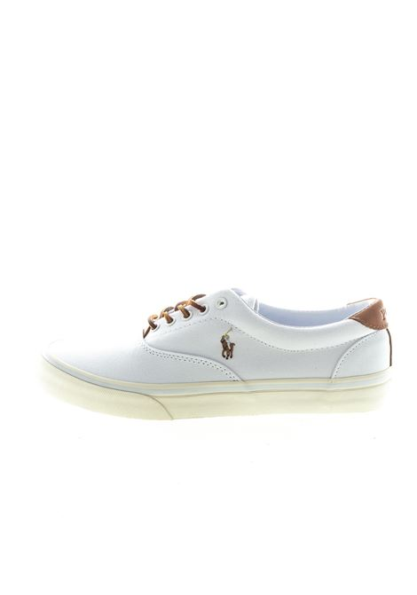 POLO RALPH LAUREN SNEAKER CANVAS BIANCO RALPH LAUREN | Sneakers | THORTONCANVAS-WHT