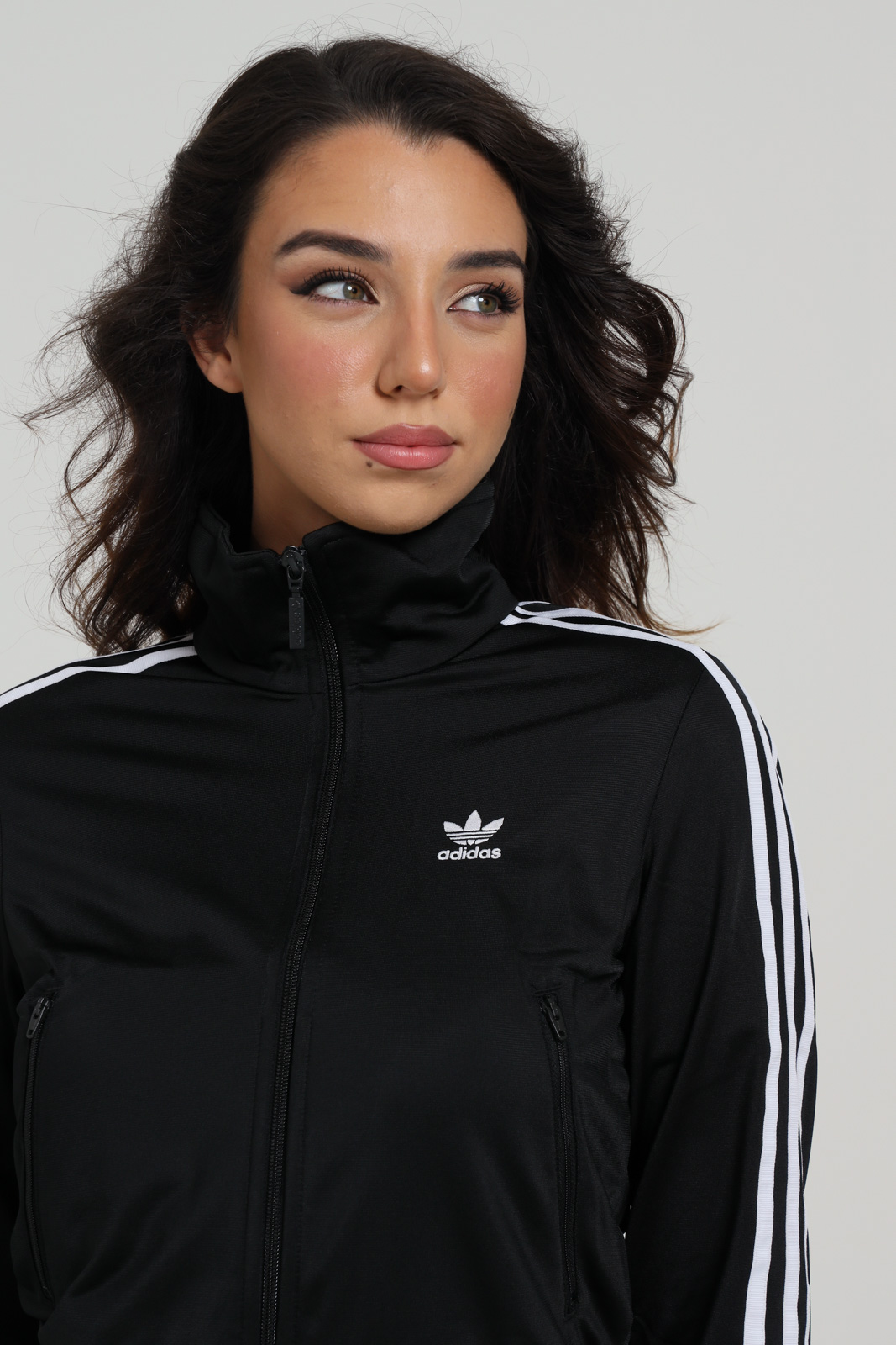 Felpa donna nera adidas con zip ADIDAS   Felpe   GD2371BACK/WHITE