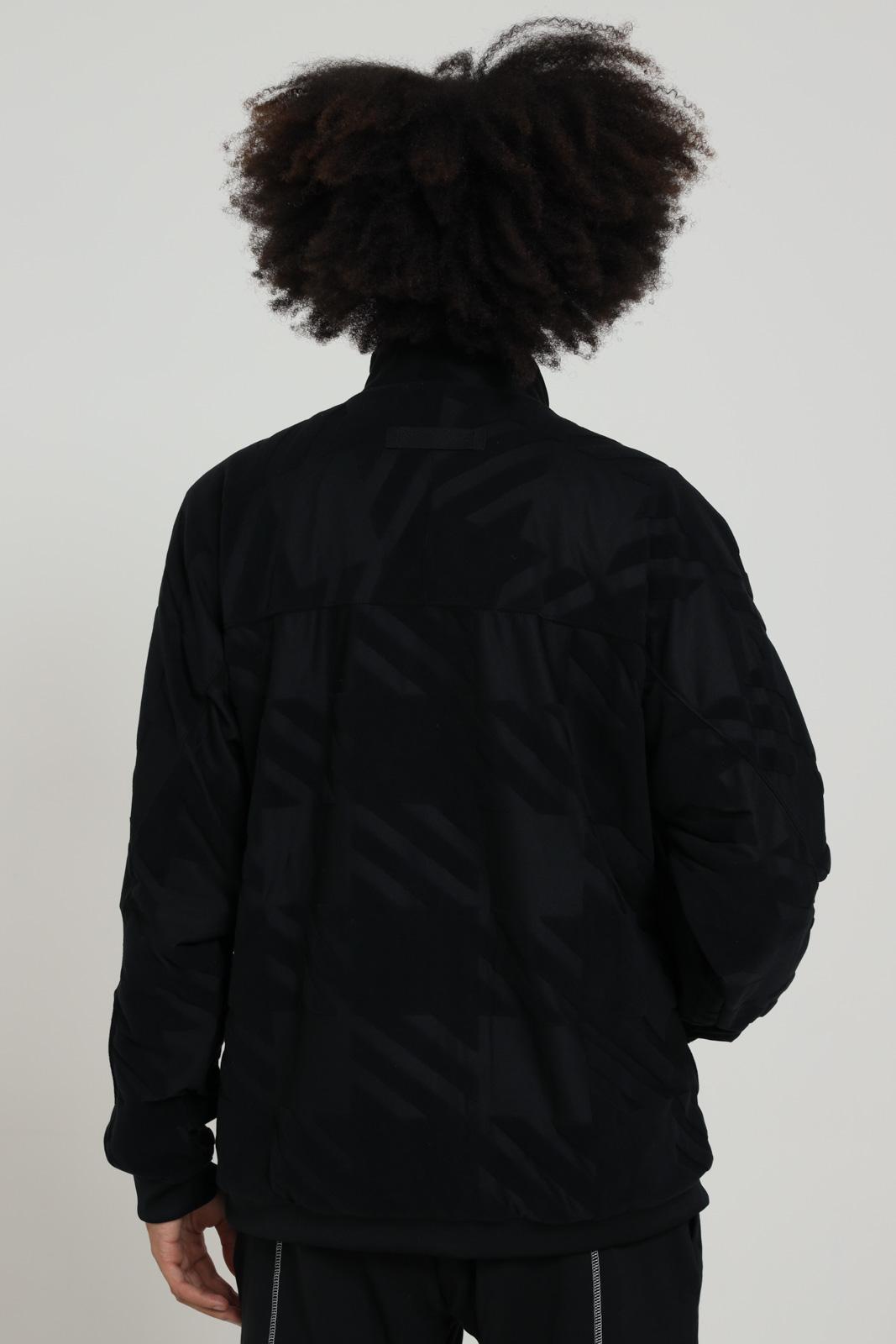 Felpa stampata con zip ADIDAS | Felpe | GD9312BLACK/BLACK
