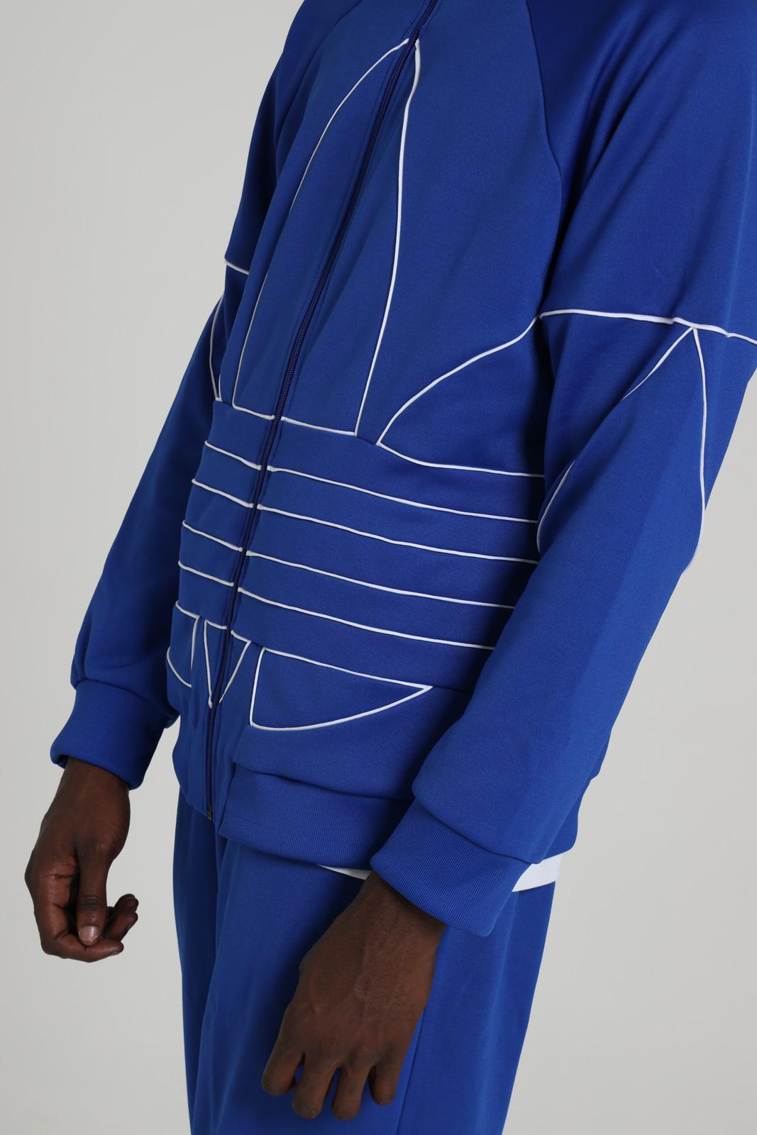 Felpa con zip e maxi logo frontale ADIDAS | Felpe | GE0813ROYBLU/WHITE