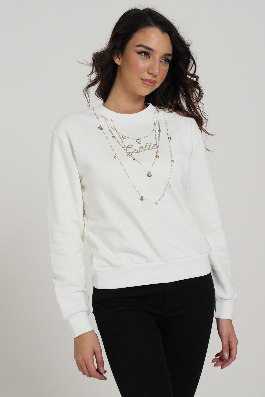GAELLE | Sweatshirt | GBD8170OFF WHITE