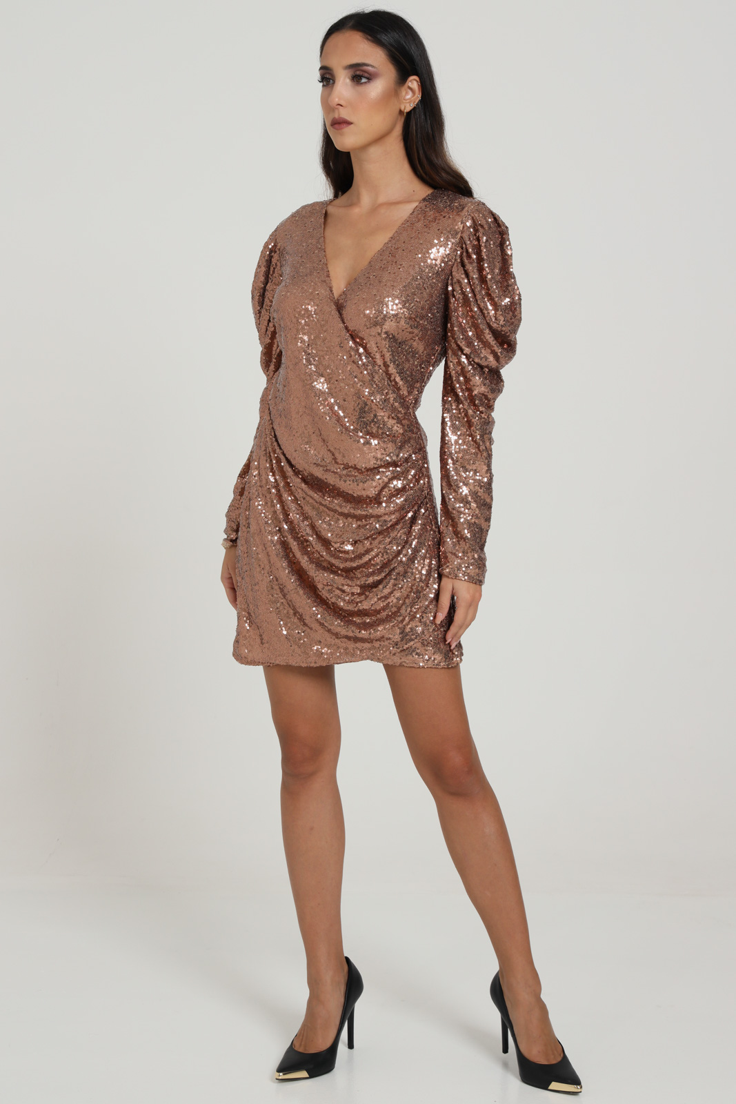 GLAMOROUS | Dress | AN3857BRONZE